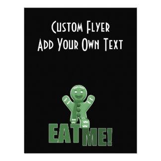 EAT ME Gingerbread Man - Green Flyer Design