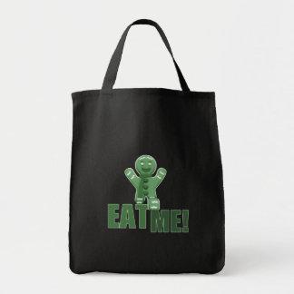 EAT ME! Gingerbread Man - Green Grocery Tote Bag