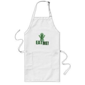 EAT ME! Gingerbread Man - Green Long Apron