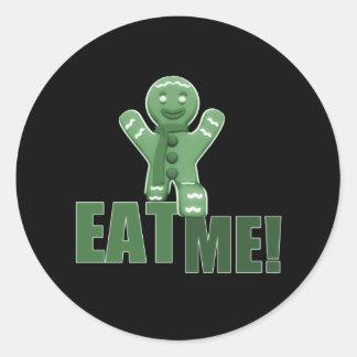 EAT ME Gingerbread Man - Green Sticker