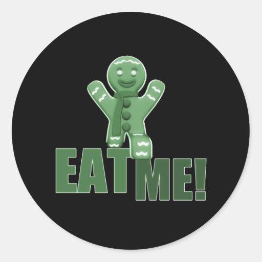 EAT ME! Gingerbread Man - Green Sticker