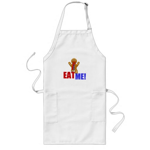 EAT ME! Gingerbread Man - Original Colors Aprons