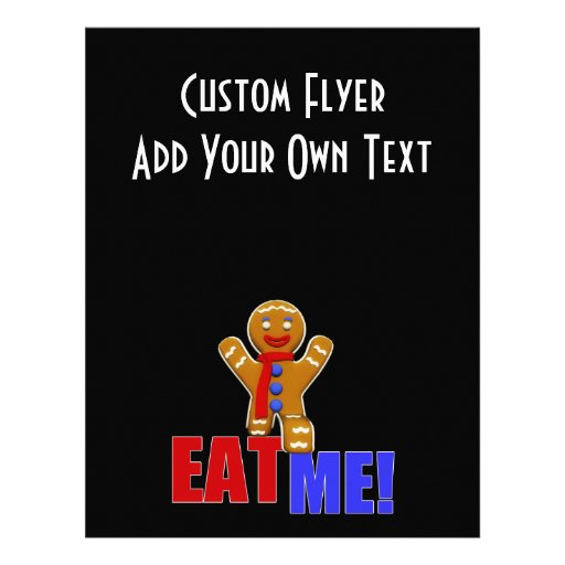 EAT ME! Gingerbread Man - Original Colors Flyer Design