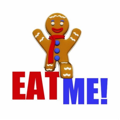 EAT ME! Gingerbread Man - Original Colors Photo Cut Outs