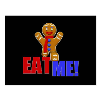EAT ME! Gingerbread Man - Original Colors Postcard