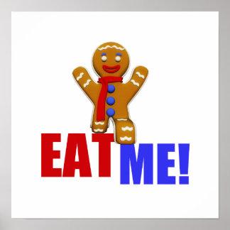 EAT ME! Gingerbread Man - Original Colors Poster