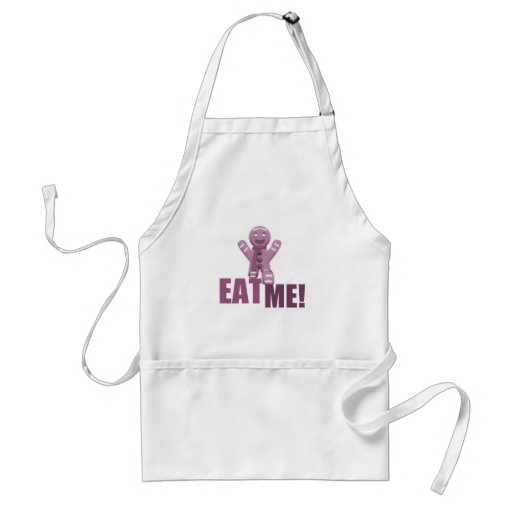 EAT ME! Gingerbread Man - Pink Apron