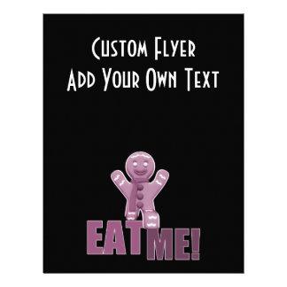 EAT ME! Gingerbread Man - Pink Personalised Flyer
