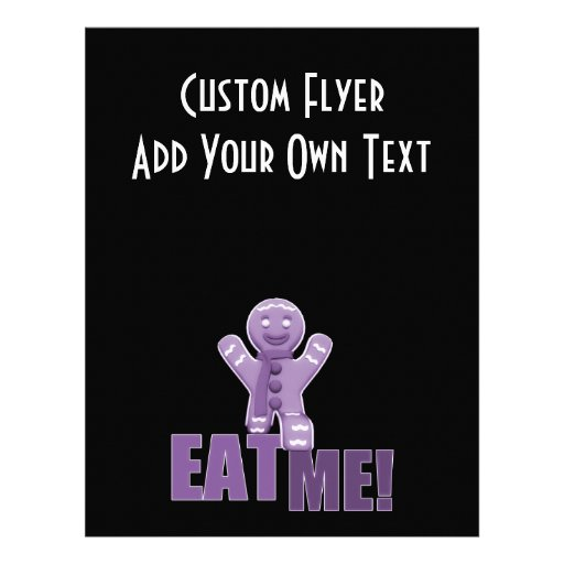 EAT ME! Gingerbread Man - Purple Flyer