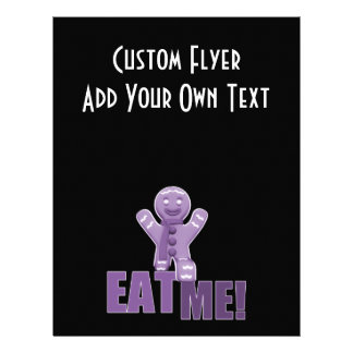 EAT ME! Gingerbread Man - Purple Flyer Design