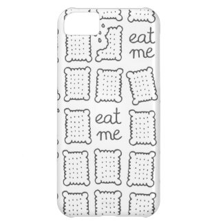 eat me monochrome cookies iPhone 5C case