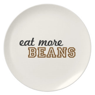 """""""Eat More Beans"""" Plate"""