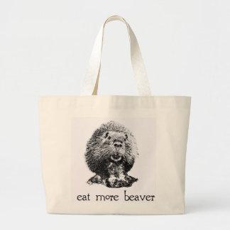 eat more beaver bag