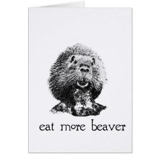 eat more beaver card