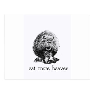 eat more beaver postcards