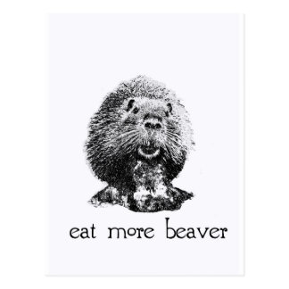 eat more beaver post card