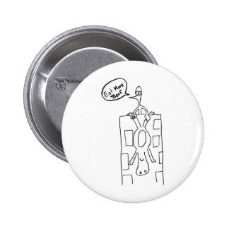 Eat More Beef Building Drop 6 Cm Round Badge