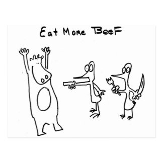 Eat More Beef Hold Up Postcard