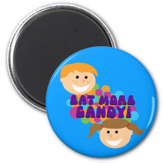 Eat More Candy Retro Kids 6 Cm Round Magnet