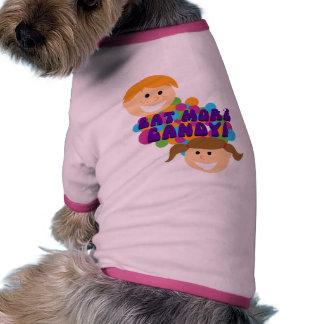 Eat More Candy Retro Kids Dog T Shirt