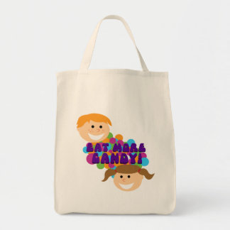 Eat More Candy Retro Kids Grocery Tote Bag