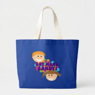 Eat More Candy Retro Kids Jumbo Tote Bag
