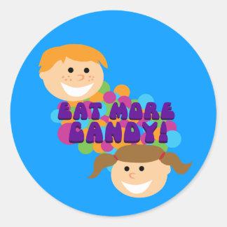 Eat More Candy Retro Kids Sticker