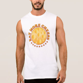 Eat More Cheese Brown Sleeveless T-shirt