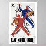 Eat More Fruit  ~ Vintage Australia Travel Poster
