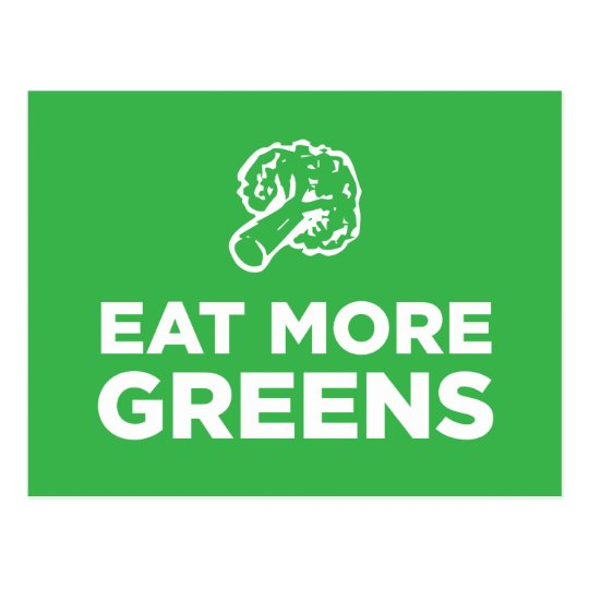Eat More Greens Postcard