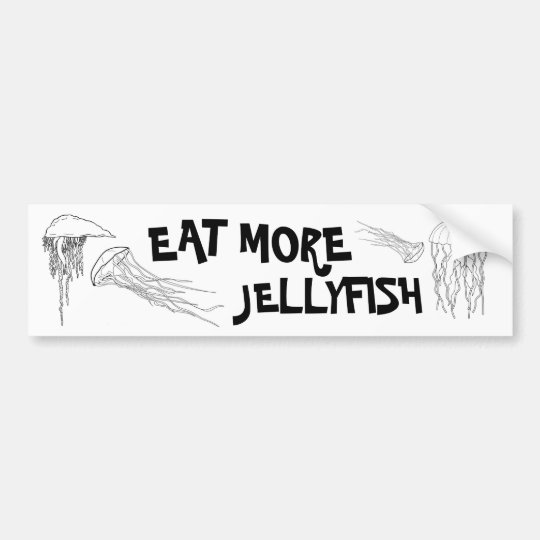 EAT MORE JELLYFISH BUMPER STICKER