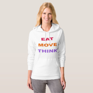 Eat Move Think Fleece Pullover Hoodie