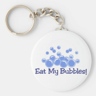 Eat My Bubbles Basic Round Button Key Ring