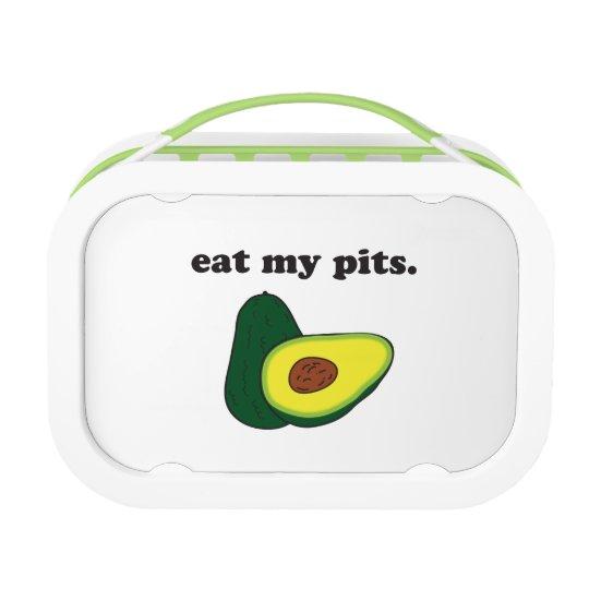 eat my pits. (avocado) lunch box