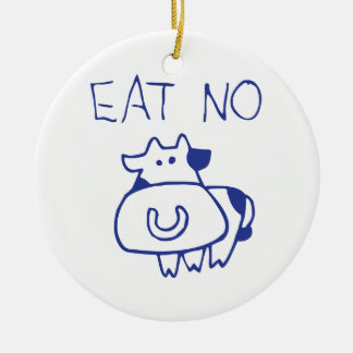 Eat no cow - blueb christmas ornament
