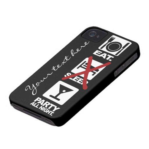 Eat - No Sleep - Party custom iPhone 4 case-mate