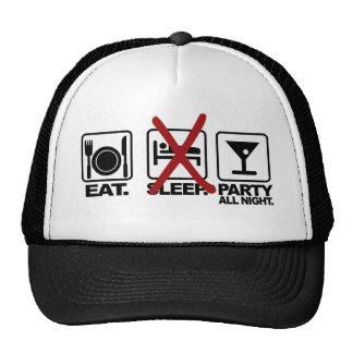 Eat - No Sleep - Party hat, choose color Cap