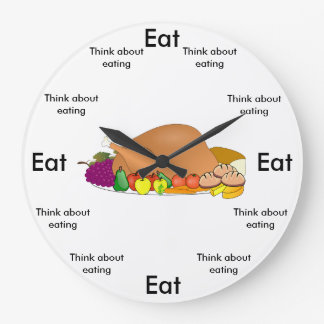 Eat O'Clock Round (Large) Wall Clock