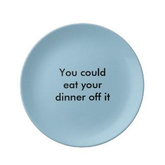 'Eat off it' plate Porcelain Plates