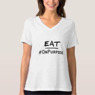 Eat #OnPurpose Women's Relaxed V-Neck T-Shirt