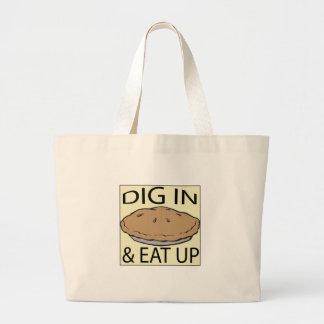 Eat Pie Canvas Bags