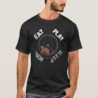 Eat, Play, Sleep, Work Hamster on a Wheel T-Shirt