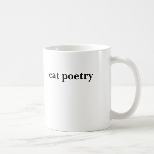 eat poetry coffee mug