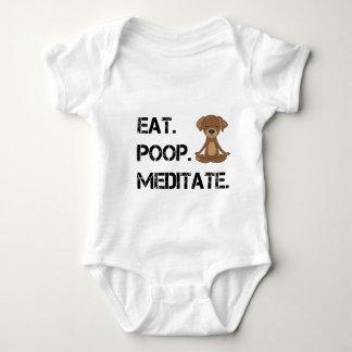 Eat.Poop. Meditate Baby Bodysuit