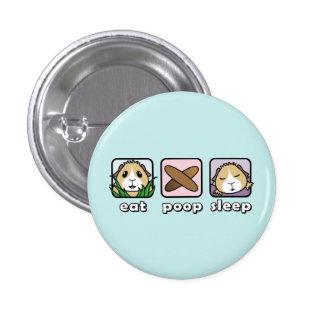 Eat Poop Sleep Guinea Pig Button Badge