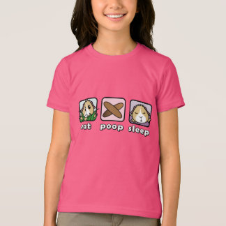 Eat Poop Sleep Guinea Pig Children's T-Shirt