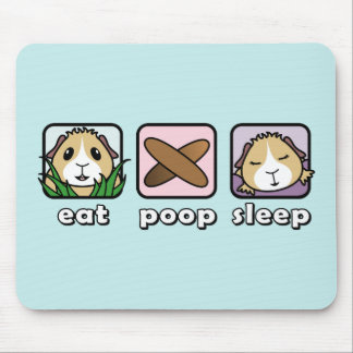Eat Poop Sleep Guinea Pig Mousemat