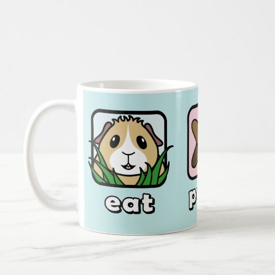 Eat Poop Sleep Guinea Pig Mug