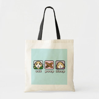 Eat Poop Sleep Guinea Pig Shopping Bag