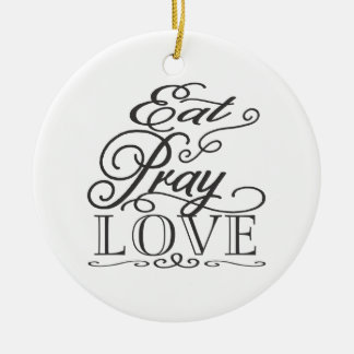 Eat Pray Love Wedding Favor Ornament